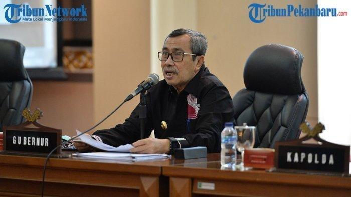 Gubernur Riau (Gubri) Syamsuar dikabarkan terkonfirmasi positif Covid-19.