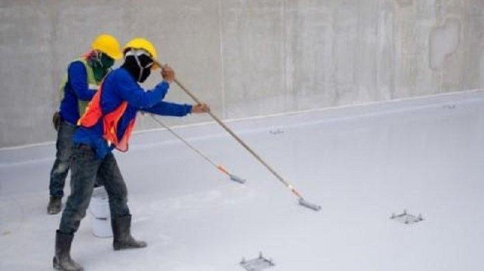 Gunakan cat pelapis waterproof untuk atap dan dak beton