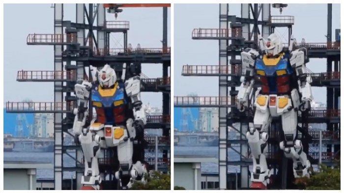 Viral di Medsos, Patung Gundam Seukuran Aslinya di Jepang dan Bisa Bergerak