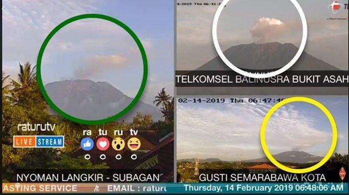 BREAKING NEWS: Gunung Agung Erupsi Lagi Kamis Pukul 04.34 Wita