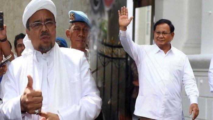 PA 212 Ingin 100 Hari Kerja Prabowo Bisa Pulangkan Habib Rizieq, Gerindra: Bukan Tugas Menhan