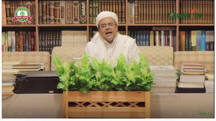 Habib Rizieq Shihab beri sambutan Reuni 212, Senin (2/12/2019) melalui rekaman video.