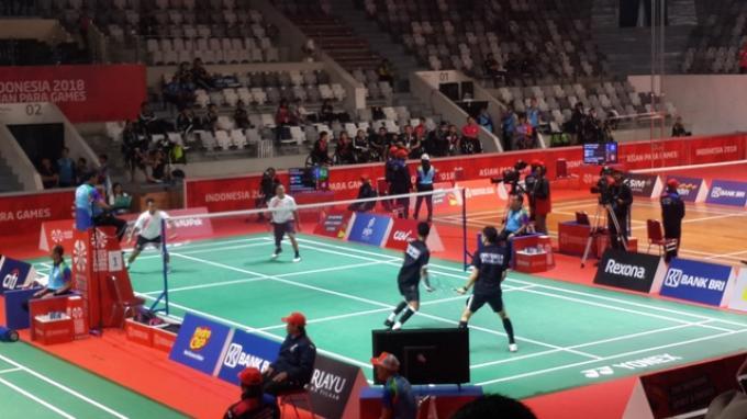 Tim Beregu Putra Para-Badminton Indonesia Melaju ke Babak Final Asian Para Games 2018
