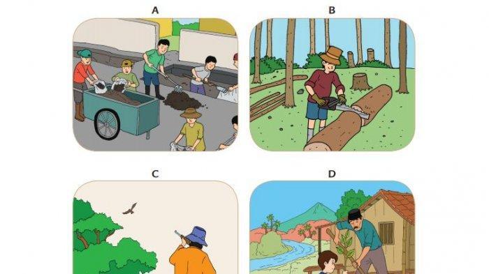 Kunci Jawaban Tema 9 Kelas 4 SD Halaman 100 101 103 104 107 112: Pelestarian Lingkungan Alam