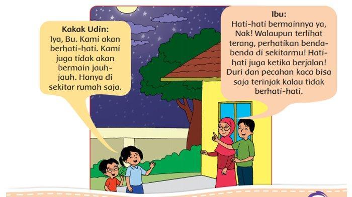 Percakapan Kakak Udin dengan ibu di halaman 27