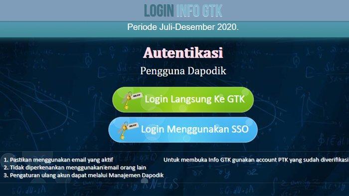 Halaman depan INFO.GTK.KEMDIKBUD.GO.ID - Berikut cara cek penerima BLT Gaji Guru Honorer, Ini Syarat dan Cara Pencairannya
