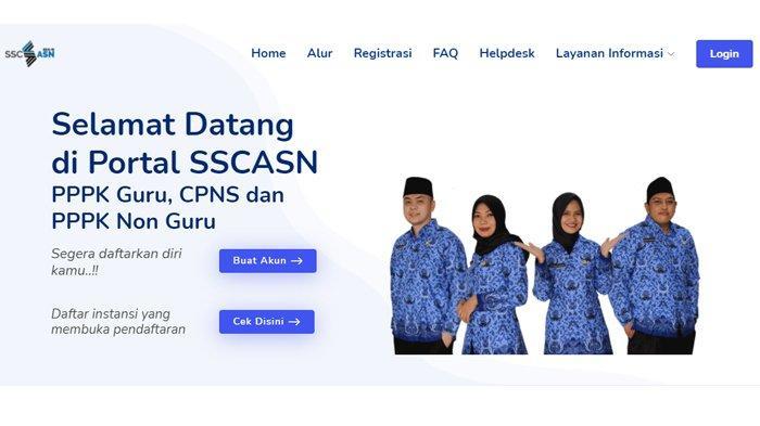Halaman depan portal SSCASN