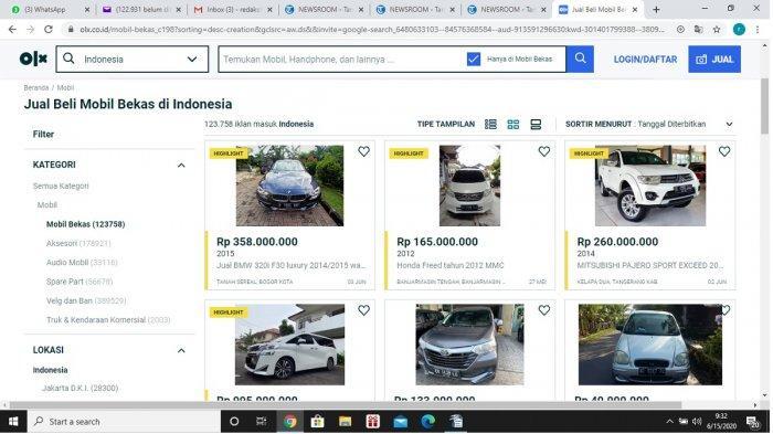 Permintaan Mobil Bekas di OLX Melonjak Lebih dari 10 Persen Seminggu Setelah Lebaran
