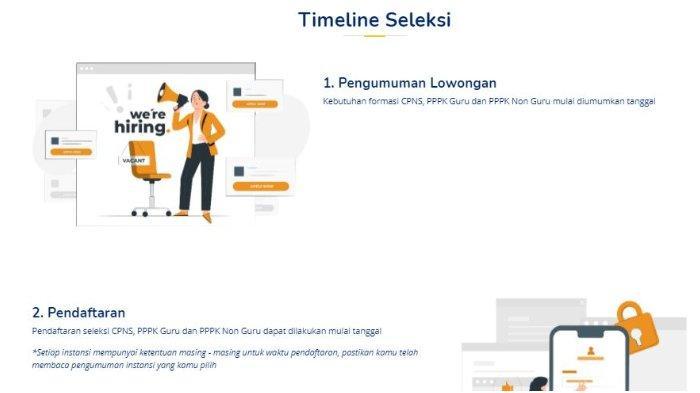 Halaman website sscasn.bkn.go.id.