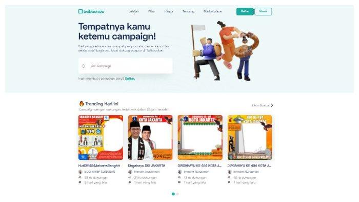 Halaman Website twibbonize.com