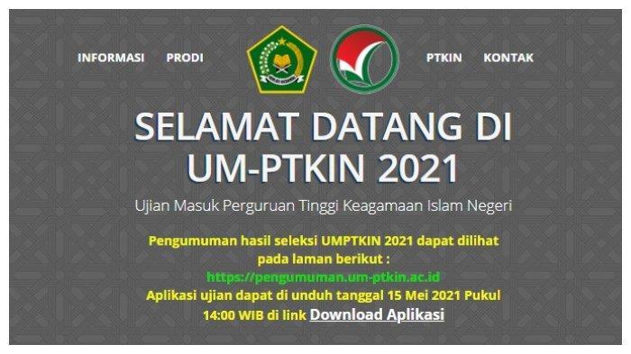 Cara Cek Pengumuman Hasil UMPTKIN 2021, Login pengumuman.um-ptkin.ac.id, Siapkan Nomor Ujian