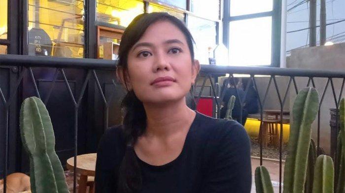 Hamidatun Syadiah ketika ditemui Wartakotalive (Tribunnews.com Network), di kawasan Karang Tengah, Lebak Bulus, Jakarta Selatan, Selasa (21/9/2021) petang.