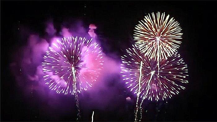 Kembang api (Hanabi) di Sumidagawa-ku, Minggu (29/7/2018).