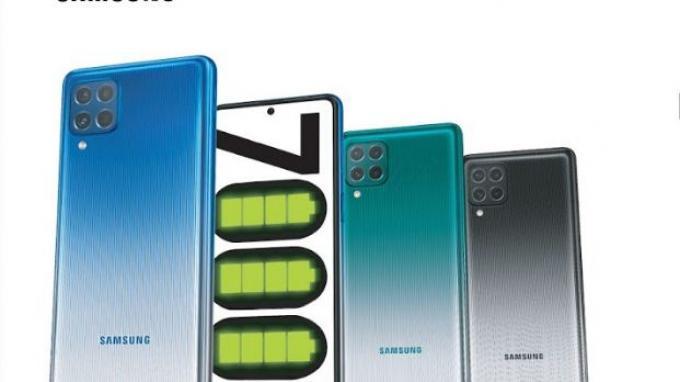 Samsung Galaxy M62, usung baterai 7000mAh.