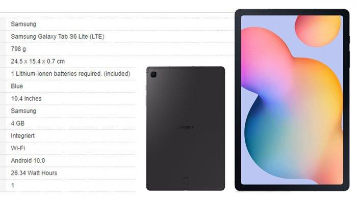 Bocoran Spesifikasi Samsung Galaxy Tab S6 Lite (GSMArena)