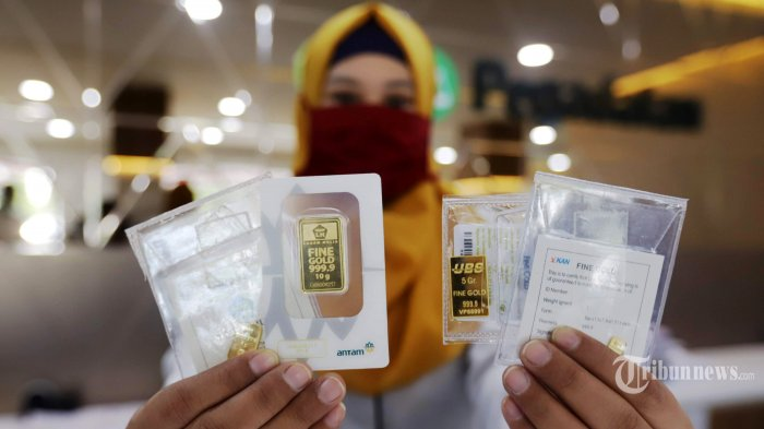 Harga Emas Antam Hari Ini Turun Tajam Rp 12.000 ke Level Rp 928 Ribu Per Gram