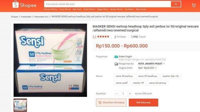 Harga Masker Capai Rp 1,8 Juta Akibat Corona, Tim Cyber Polisi Akan Pantau Penjualan Masker Online