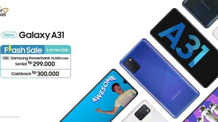Harga Samsung Galaxy A31 di Indonesia, Menggunakan Layar Infinity-U Display Memiliki Empat Kamera (samsung.com) (samsung.com)