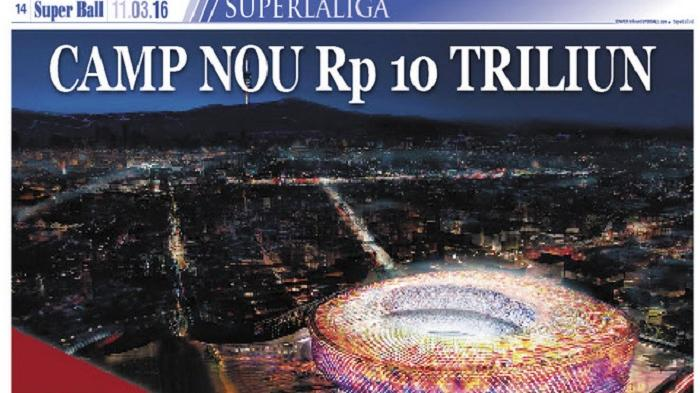 Barcelona Renovasi Stadion Camp Nou Seharga Rp 10 Triliun