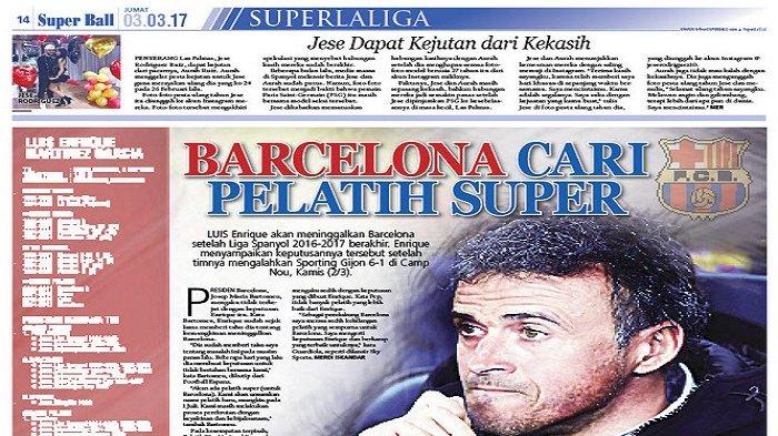 Barcelona Tidak Kaget dengan Keputusan Luis Enrique