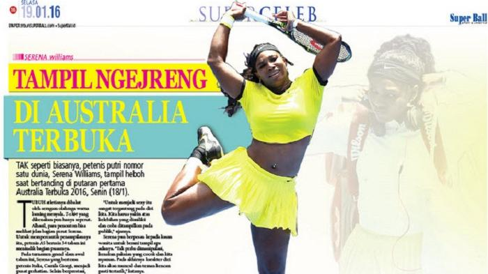 Serena Williams Tampil Kinclong di Australia Terbuka