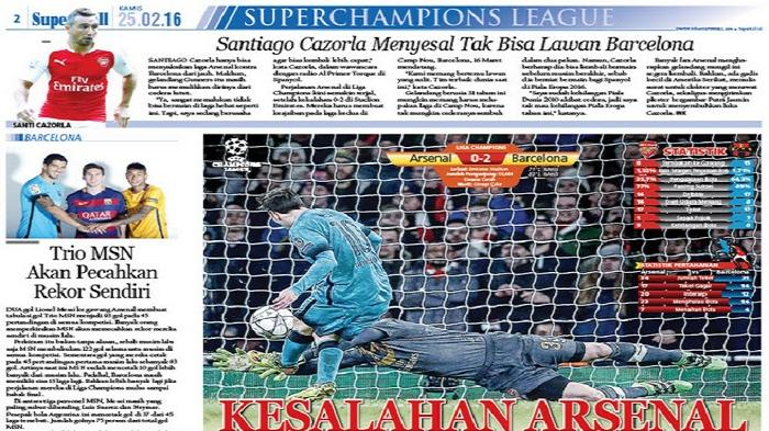 Kesalahan Arsenal di Laga Lawan Barcelona