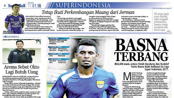 Persib Bandung Lepas Rudolof Yanto Basna
