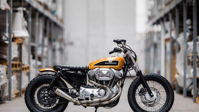 Ubah Tampilan Jadi Lebih Kurusan Ini Modifikasi Harley Davidson Sportster Tribunnews Com Mobile