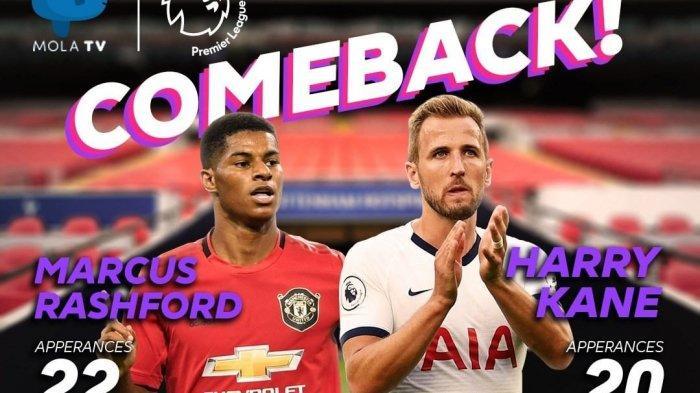 Susunan Pemain dan Live Streaming Tottenham vs MU Liga Inggris di Mola TV, Adu Tajam Rashford-Kane