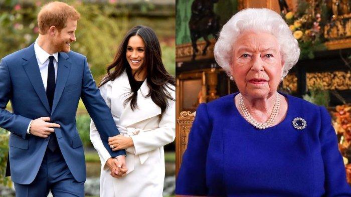 Berikut ini isi surat Ratu Elizabeth II soal Harry dan Meghan Markle mundur dari Kerajaan Inggris, berikan persetujuan.