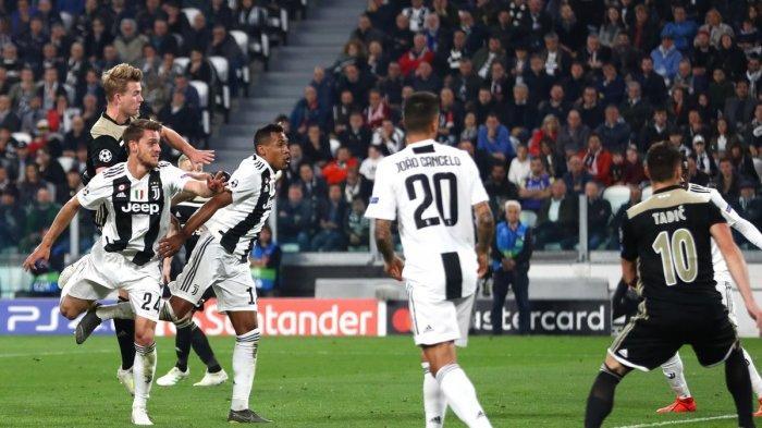 Juventus kalah 1-2 dari Ajax di babak perempat final Liga Champions leg 2, Rabu (17/4/2019) dini hari.