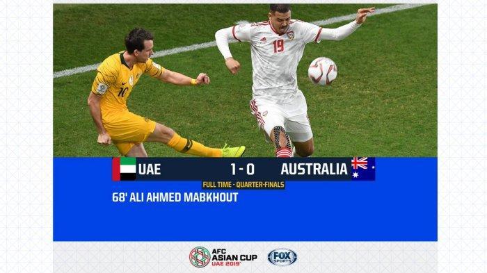 Hasil Akhir Uni Emirat Arab Vs Australia Piala Asia AFC 2019, Tim Tuan Rumah Melaju ke Semifinal