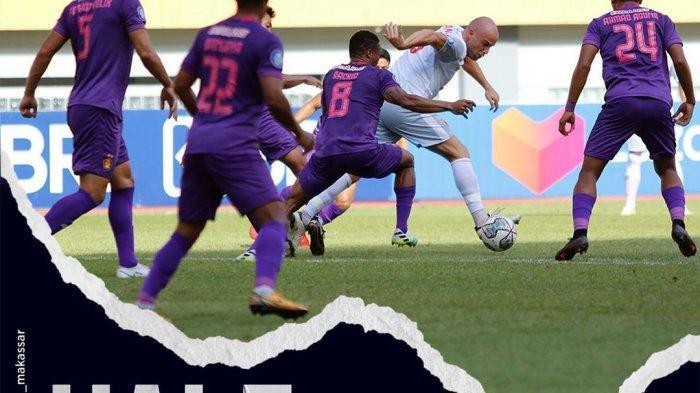 Hasil Babak I Persik Kediri vs PSM Makassar BRI Liga 1, 7 Menit Tercipta 3 Gol, Skor Imbang 2-2