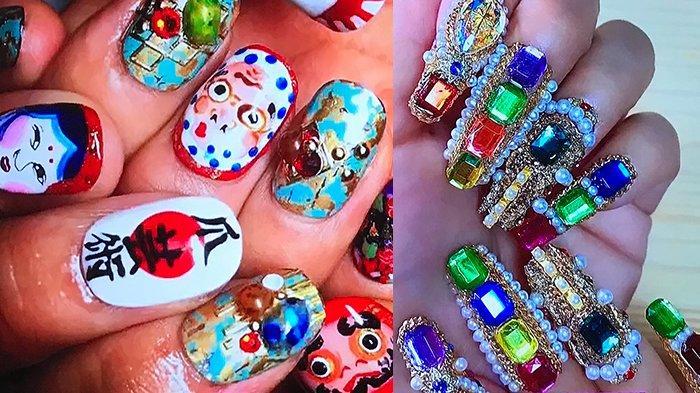 Hasil Karya Nail Art Britney Tokyo