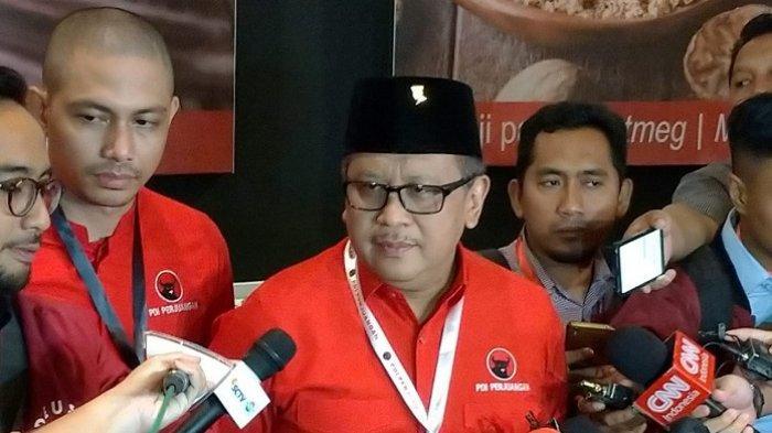 Sekretaris Jenderal (Sekjen) PDI Perjuangan Hasto Kristiyanto di JIExpo Kemayoran, Jakarta, Jumat (10/1/2020).