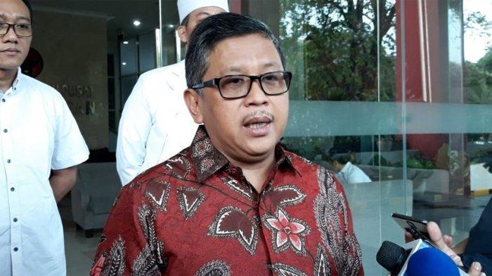 Sekretaris Jenderal PDI Perjuangan Hasto Kristiyanto di Kantor DPP PDIP, Menteng, Jakarta Pusat, Sabtu (28/9/2019).
