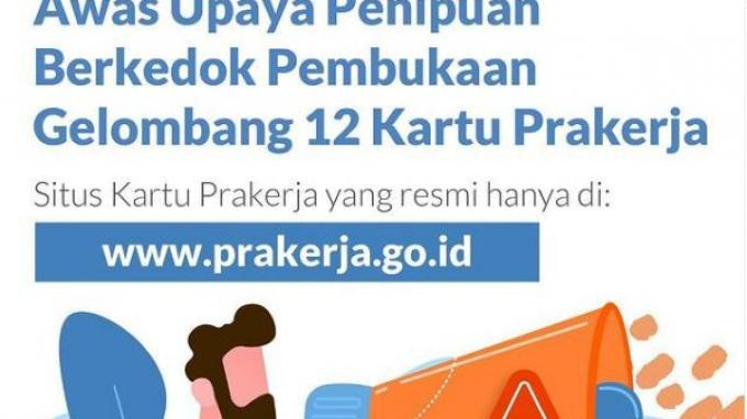 Info Pendaftaran Kartu Prakerja Gelombang 12, Login di www.prakerja.go.id, Ini Cara Daftarnya