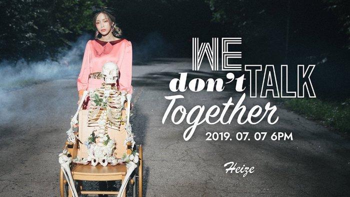 Lirik Lagu We Don't Talk Together Heize (Prod. Suga BTS), Lengkap dengan Terjemahan Indonesia
