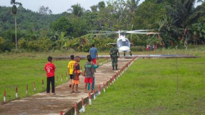 Helikopter Sipil Malaysia Mendarat Tanpa Izin di Helipad Milik TNI AD