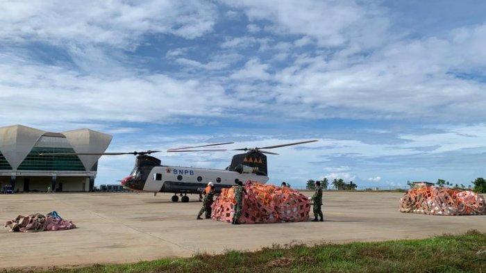 Korban Gempa Sulbar di 2 Desa Terisolir Terima Bantuan Total 8 Ton, BNPB Gunakan Helikopter Chinook