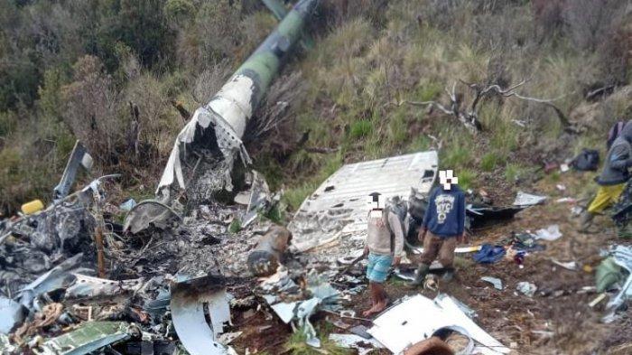 Tim Evakuasi Capai Lokasi Puing Heli MI-17 milik TNI AD, 9 Jenazah Dikenali dari Pakaian dan Atribut