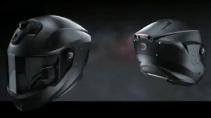Ditanam Dua Kamera Belakang, Intelligent Cranium Helmets Pamer Helm Super Canggih