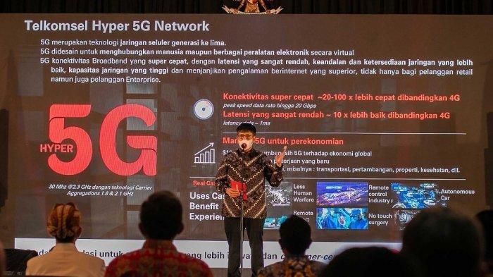 5G Hadir di Solo, Dirut Telkomsel Pamer Kecepatan Internet 816MB per Detik