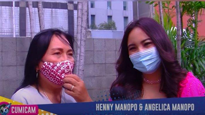 Henny Manopo sang ibunda Amanda Manopo saat ditemui oleh awak media terkait jago akting sang anak
