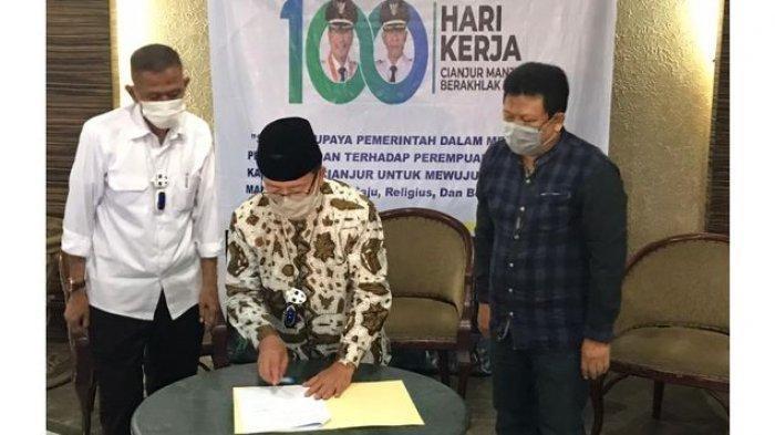 Launching Perbup Pencegahan Kawin Kontrak Dilakukan di Puncak Cipanas, Ini Alasannya