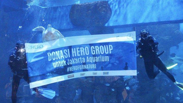 Komitmen berkelanjutan HERO Group dalam pelestarian satwa dan lingkungan hidup melalui kerjasama untuk pemenuhan kebutuhan pakan di Jakarta Aquarium