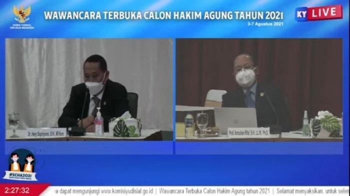 Calon Hakim Agung Hery Supriyono Dicecar Atas Vonis Bebasnya Terdakwa Korupsi di RSUD Samarinda