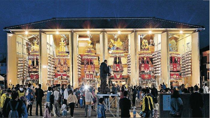 Festival Fushiki Hikiyama Hanayama Jepang Digiring Kembali di Takaoka Setelah 2 Tahun Diliburkan
