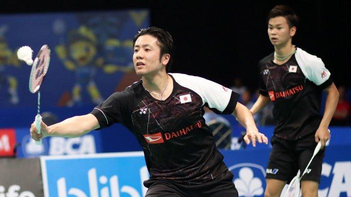 Pasangan ganda putra Jepang, Hiroyuki Endo/Yuta Watanabe.