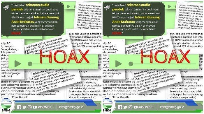Beredar Rekaman Suara soal Gempa 8 SR Akibat Letusan Gunung Anak Krakatau, BMKG: HOAX